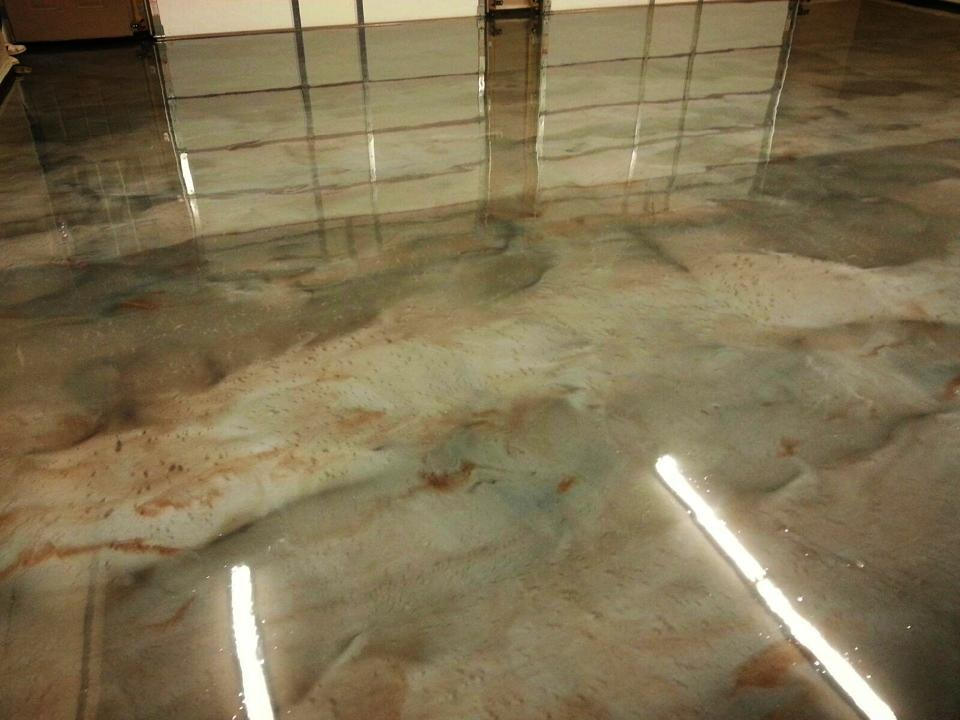 Metallic Marble Epoxy Flooring Columbus Ohio Redeckoco