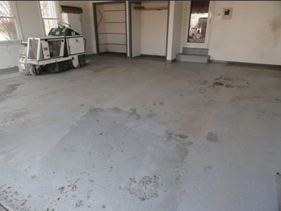 Concrete Garage Floor - Garage (before)