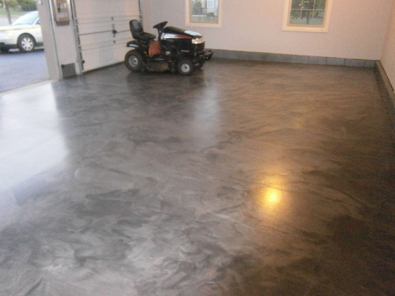 Metallic Marble Epoxy Flooring Columbus Ohio Redeckoco