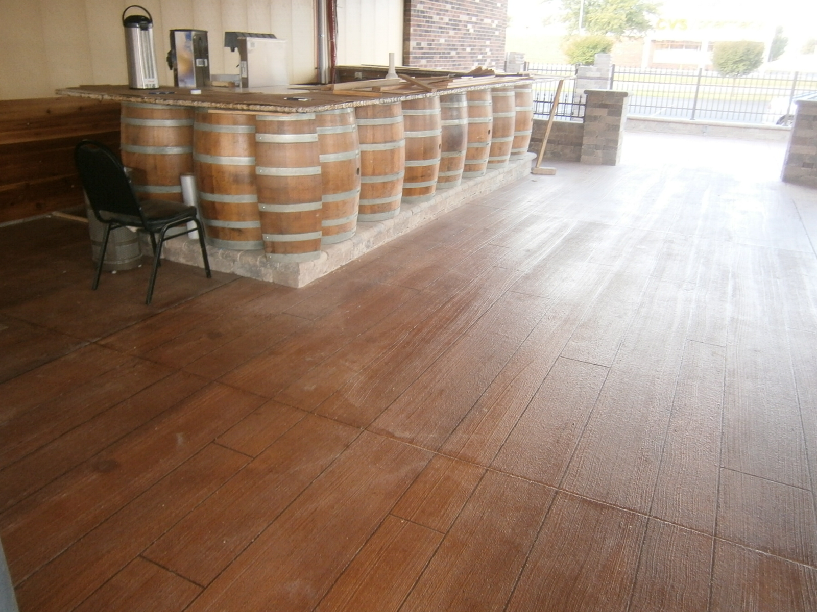 Concrete Wood Floor Concrete Wood Columbus Ohio Redeck Of Central Ohio