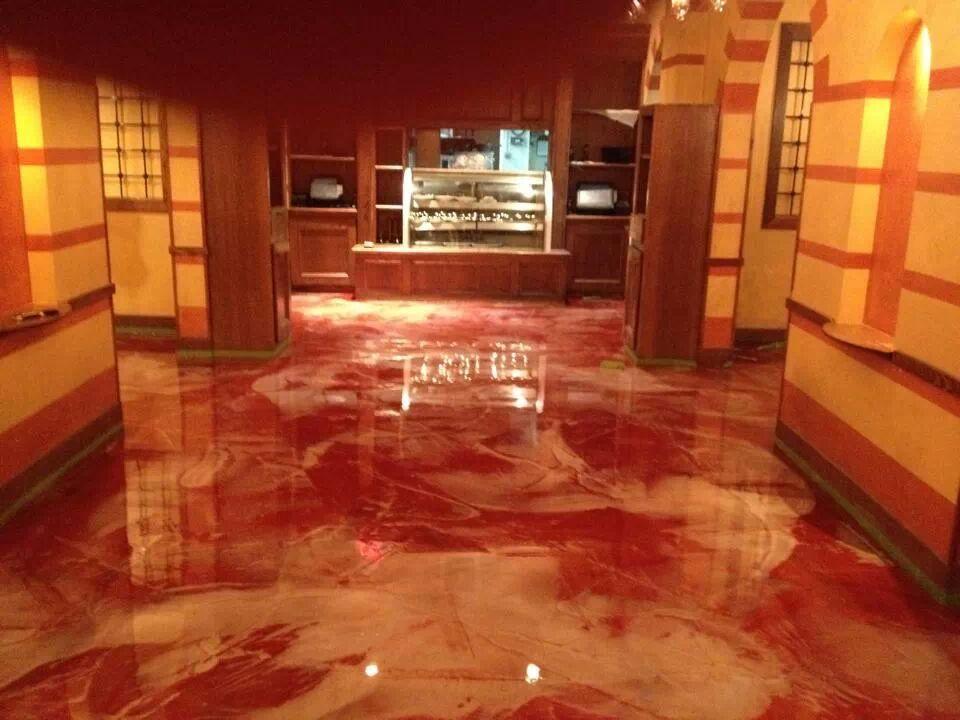 Metallic Marble Stained Floor