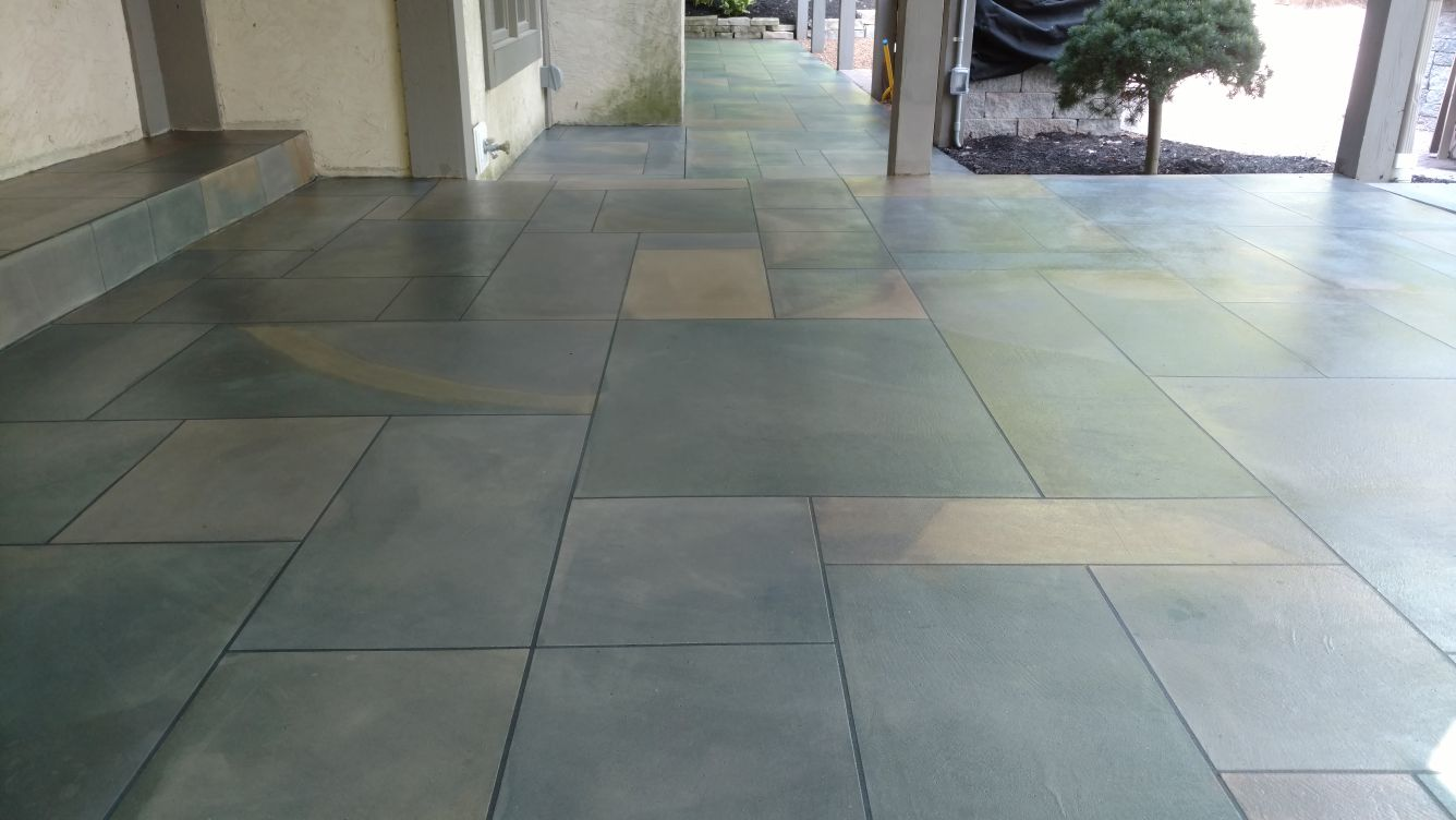 Tuscan slate concrete resurfacing columbus ohio redeckoco ceramic tiles or acid stained concrete the integral color contrast between each layer of slate texture only gets enhanced with our multiple layered dailygadgetfo Image collections
