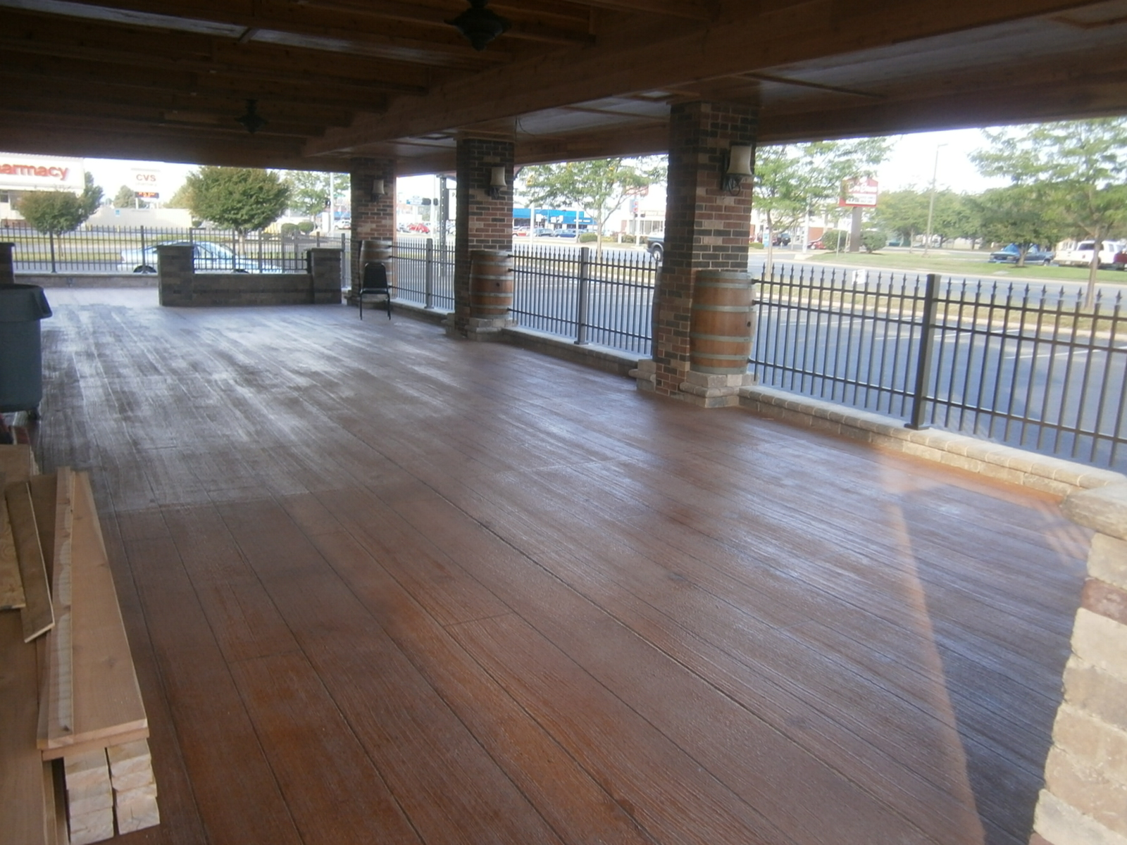 Wood Stained Concrete Westerville Ohio