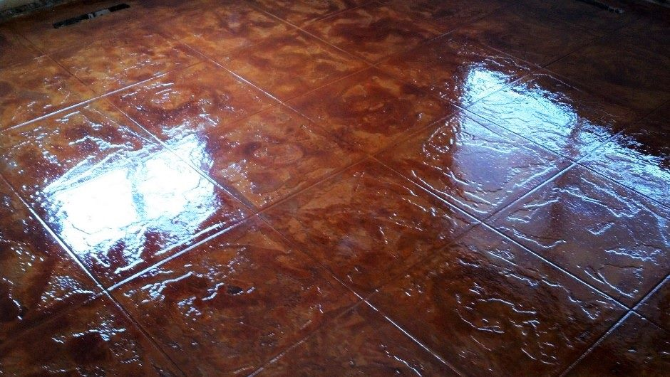 Decorative Stained Concrete | Dublin Ohio | Re-Deck of Central Ohio