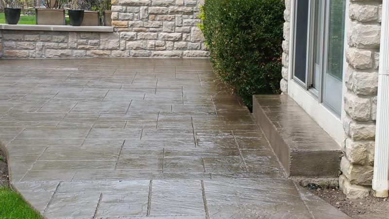 Flagstone Stamped Concrete | Dublin Ohio | Re-Deck of Central Ohio