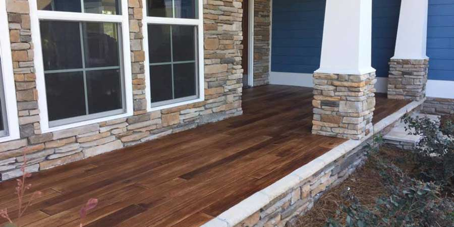 Rustic Concrete Wood | Dublin Ohio | Re-Deck of Central Ohio