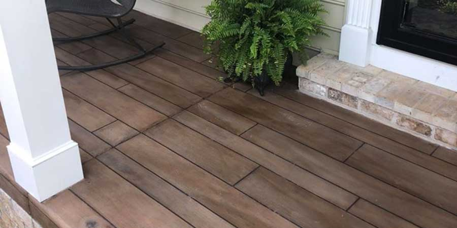 Rustic Concrete Wood | Columbus Ohio | Re-Deck of Central Ohio